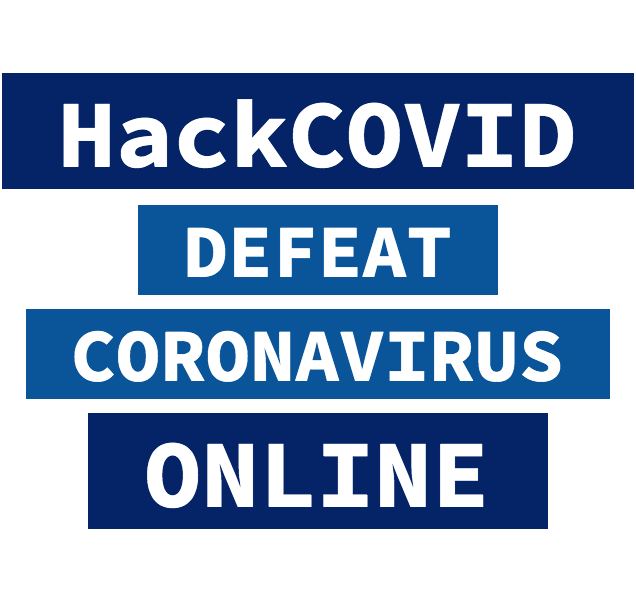 Logo of the program 'HackCOVID'
